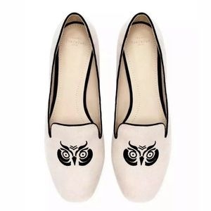 ZARA TRAFALUC Owl Moccasin Flats Smoking Loafers